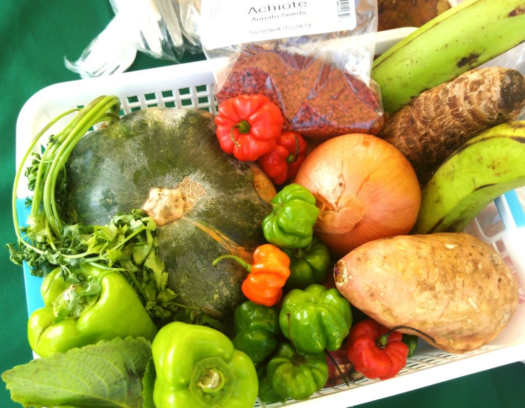 Some of the traditional ingredients in the Caldo Santo