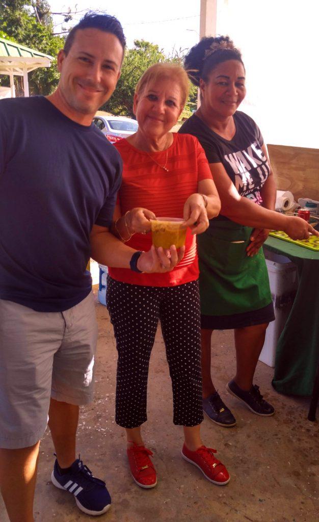 Me alongside the Mayor Julia Nazario and Caldo Santo Cook, Lina Parrilla.