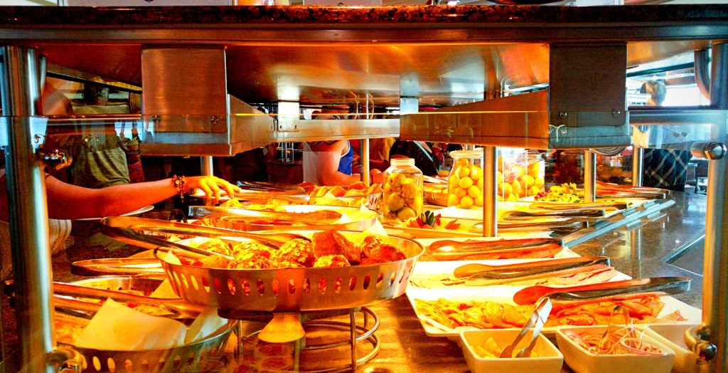 The buffet at the Windjammer