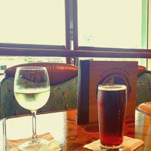 Sauvignon Blanc and Anchor Steam at Schooner Bar